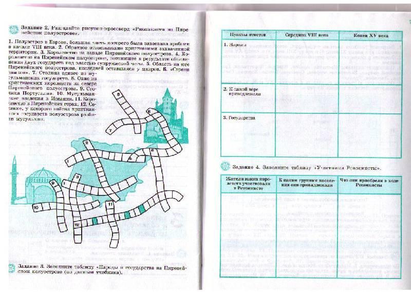 решебник рабочая тетрадь по истории 6 класс косулина:
