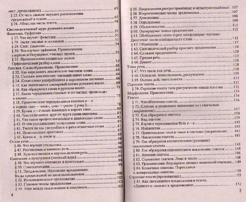 Домашняя работа по русскому языку за 5